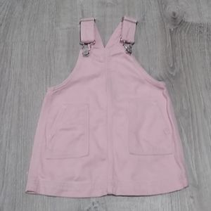 Baby Gap pink jean denim pinafore jumper 12-18 mo'